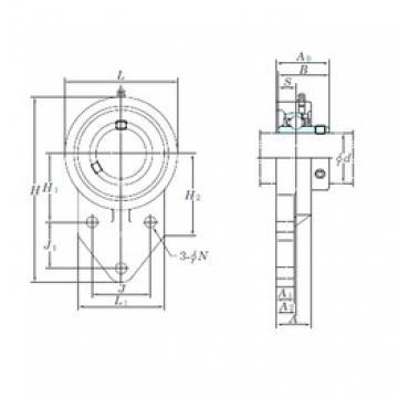 KOYO UCFB206-18 bearing units