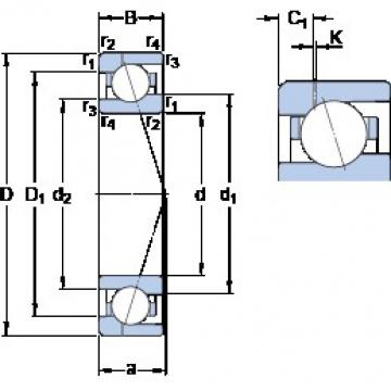 75 mm x 105 mm x 16 mm  75 mm x 105 mm x 16 mm  SKF 71915 CE/P4AH1 angular contact ball bearings