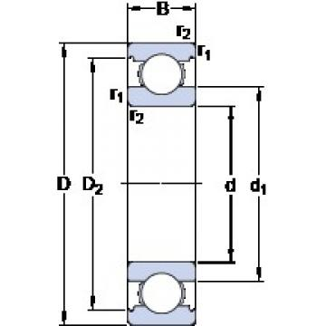 30 mm x 55 mm x 13 mm  30 mm x 55 mm x 13 mm  SKF 6006 deep groove ball bearings