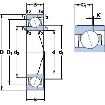 20 mm x 37 mm x 9 mm  20 mm x 37 mm x 9 mm  SKF 71904 CE/HCP4AH angular contact ball bearings