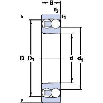 100 mm x 215 mm x 73 mm  100 mm x 215 mm x 73 mm  SKF 2320 K self aligning ball bearings