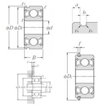 12 mm x 28 mm x 8 mm  12 mm x 28 mm x 8 mm  NTN SC0142ZZNR deep groove ball bearings