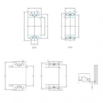 70 mm x 110 mm x 18 mm  70 mm x 110 mm x 18 mm  SKF BTM 70 BTN9/HCP4CDB angular contact ball bearings