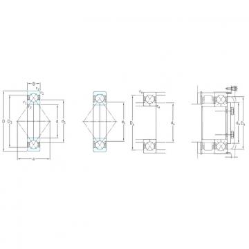 30 mm x 72 mm x 19 mm  30 mm x 72 mm x 19 mm  SKF QJ306MA angular contact ball bearings