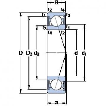 50 mm x 72 mm x 12 mm  50 mm x 72 mm x 12 mm  SKF S71910 CE/HCP4A angular contact ball bearings