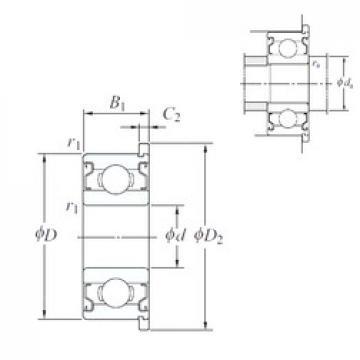 8 mm x 14 mm x 4 mm  8 mm x 14 mm x 4 mm  KOYO WMLFN8014 ZZ deep groove ball bearings