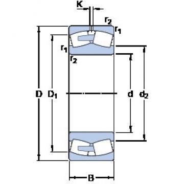 1800 mm x 2180 mm x 375 mm  1800 mm x 2180 mm x 375 mm  SKF 248/1800 CAFA/W20 spherical roller bearings