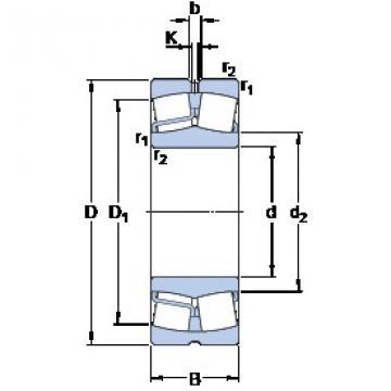 95 mm x 200 mm x 67 mm  95 mm x 200 mm x 67 mm  SKF 22319 EJA/VA405 spherical roller bearings