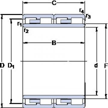 200 mm x 290 mm x 192 mm  200 mm x 290 mm x 192 mm  SKF 313811 cylindrical roller bearings