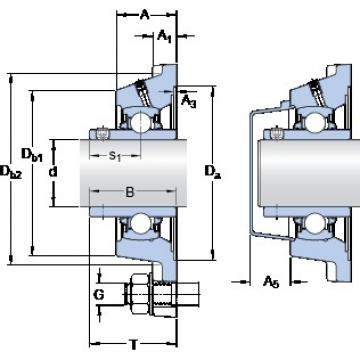 SKF FY 45 TDW bearing units