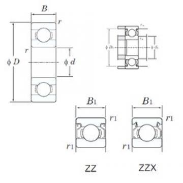 7 mm x 22 mm x 8 mm  7 mm x 22 mm x 8 mm  KOYO ML7022ZZ deep groove ball bearings