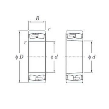 360 mm x 540 mm x 180 mm  360 mm x 540 mm x 180 mm  KOYO 24072RHA spherical roller bearings