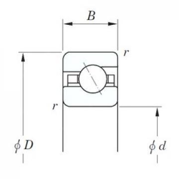 177,8 mm x 196,85 mm x 9,525 mm  177,8 mm x 196,85 mm x 9,525 mm  KOYO KCA070 angular contact ball bearings