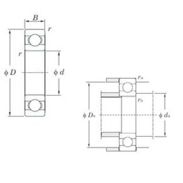 45 mm x 85 mm x 19 mm  45 mm x 85 mm x 19 mm  KOYO 6209 deep groove ball bearings