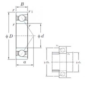35 mm x 72 mm x 17 mm  35 mm x 72 mm x 17 mm  KOYO 7207 angular contact ball bearings