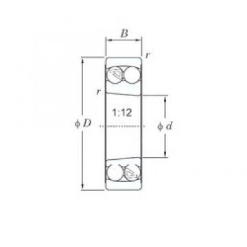85 mm x 180 mm x 41 mm  85 mm x 180 mm x 41 mm  KOYO 1317K self aligning ball bearings