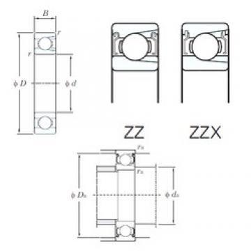 100 mm x 180 mm x 34 mm  100 mm x 180 mm x 34 mm  KOYO M6220ZZX deep groove ball bearings