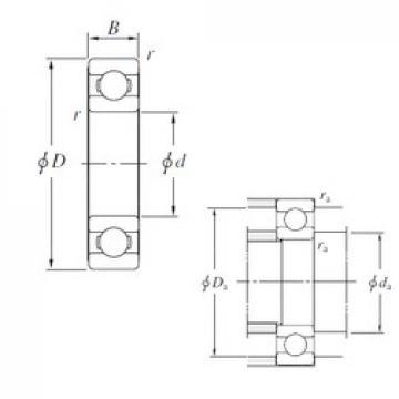 300 mm x 420 mm x 56 mm  300 mm x 420 mm x 56 mm  KOYO 6960 deep groove ball bearings