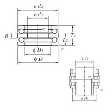 KOYO 52208 thrust ball bearings