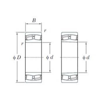 130 mm x 210 mm x 64 mm  130 mm x 210 mm x 64 mm  KOYO 23126RH spherical roller bearings