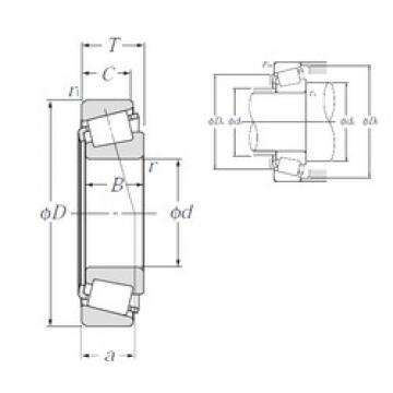 57,15 mm x 110 mm x 21,996 mm  57,15 mm x 110 mm x 21,996 mm  NTN 4T-390/394A tapered roller bearings