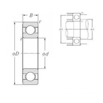 22 mm x 44 mm x 12 mm  22 mm x 44 mm x 12 mm  NTN 60/22 deep groove ball bearings