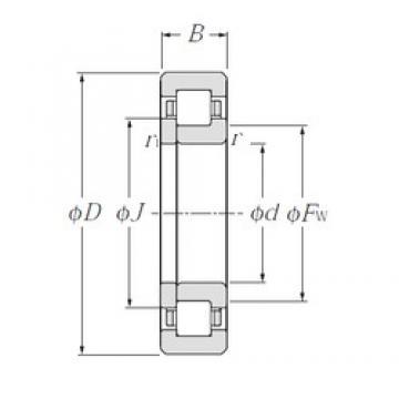 90 mm x 190 mm x 64 mm  90 mm x 190 mm x 64 mm  NTN NUP2318 cylindrical roller bearings