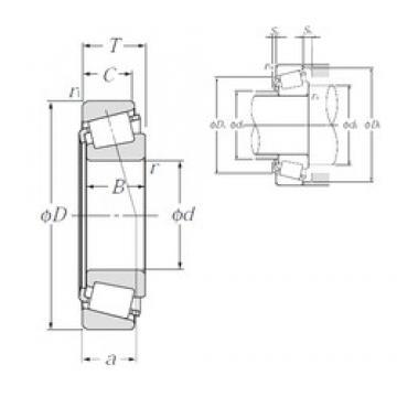 340 mm x 460 mm x 72 mm  340 mm x 460 mm x 72 mm  NTN 32968E1 tapered roller bearings