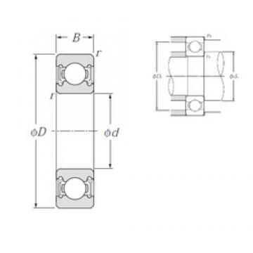12 mm x 28 mm x 8 mm  12 mm x 28 mm x 8 mm  NTN 6001LLH deep groove ball bearings