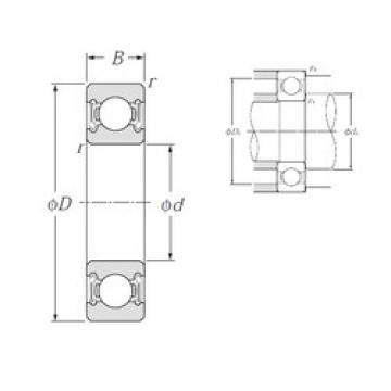 17 mm x 40 mm x 12 mm  17 mm x 40 mm x 12 mm  NTN 6203LLB deep groove ball bearings