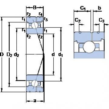 80 mm x 110 mm x 16 mm  80 mm x 110 mm x 16 mm  SKF 71916 CB/HCP4AL angular contact ball bearings