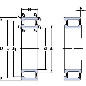 150 mm x 225 mm x 56 mm  150 mm x 225 mm x 56 mm  SKF NCF 3030 CV cylindrical roller bearings