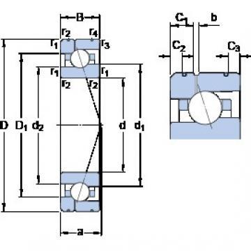 85 mm x 130 mm x 22 mm  85 mm x 130 mm x 22 mm  SKF 7017 ACE/P4AL1 angular contact ball bearings