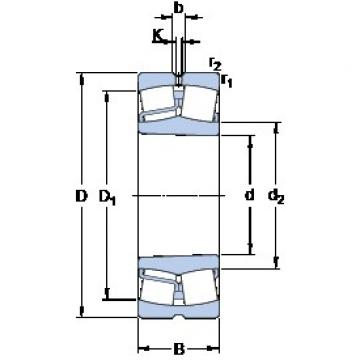 85 mm x 150 mm x 36 mm  85 mm x 150 mm x 36 mm  SKF 22217 EK spherical roller bearings