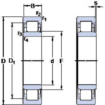 90 mm x 140 mm x 24 mm  90 mm x 140 mm x 24 mm  SKF NU 1018 ML thrust ball bearings