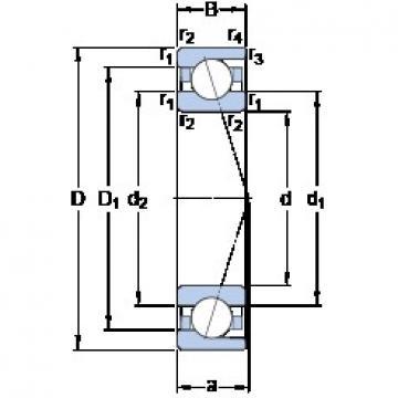 45 mm x 68 mm x 12 mm  45 mm x 68 mm x 12 mm  SKF 71909 CD/HCP4A angular contact ball bearings