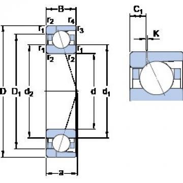 190 mm x 260 mm x 33 mm  190 mm x 260 mm x 33 mm  SKF 71938 CD/P4AH1 angular contact ball bearings