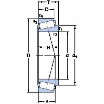 203.987 mm x 276.225 mm x 46.038 mm  203.987 mm x 276.225 mm x 46.038 mm  SKF LM 241148/110/VQ051 tapered roller bearings