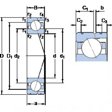 105 mm x 160 mm x 26 mm  105 mm x 160 mm x 26 mm  SKF 7021 ACD/HCP4AL angular contact ball bearings