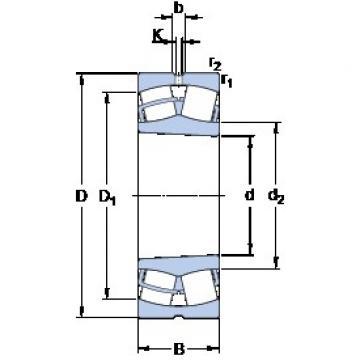 45 mm x 100 mm x 25 mm  45 mm x 100 mm x 25 mm  SKF 21309 EK spherical roller bearings