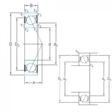 20 mm x 47 mm x 14 mm  20 mm x 47 mm x 14 mm  SKF SS7204 CD/P4A angular contact ball bearings