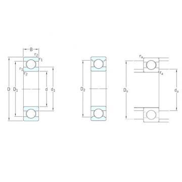 6 mm x 13 mm x 3,5 mm  6 mm x 13 mm x 3,5 mm  SKF W618/6 deep groove ball bearings