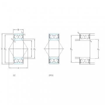 25 mm x 62 mm x 25,4 mm  25 mm x 62 mm x 25,4 mm  SKF 3305A-2RS1 angular contact ball bearings