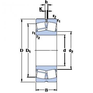 80 mm x 170 mm x 39 mm  80 mm x 170 mm x 39 mm  SKF 21316 E spherical roller bearings