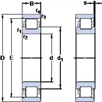 170 mm x 360 mm x 72 mm  170 mm x 360 mm x 72 mm  SKF N 334 ECM thrust ball bearings